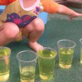 1歳児みかん組 色水遊び